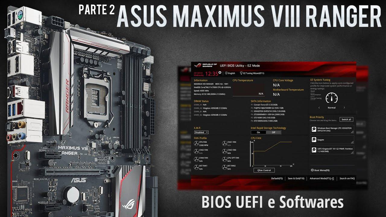 ASUS ROG Maximus VIII Ranger Z170 - BIOS UEFI, conceitos de overclock no  6700k e softwares (2/2)