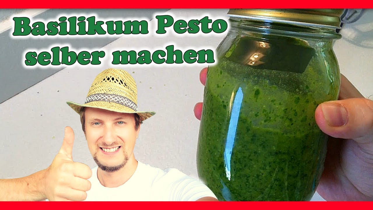 basilikum pesto selber machen frisch vom garten youtube. Black Bedroom Furniture Sets. Home Design Ideas