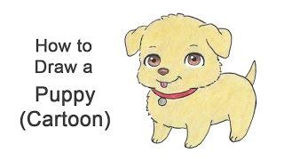 Wie zeichnet man einen Cartoon-Hund / Welpe (Golden Retriever)