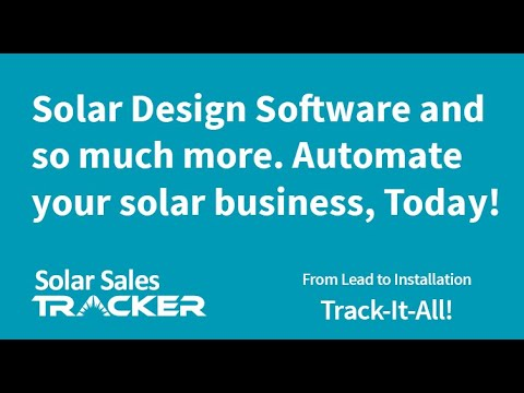 Solar CRM - Solar Sales Tracker Track your entire business from - sales tracker software