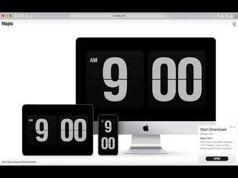 MacOs Tutorial - How To Get Retro Flip Clock Screensaver For Mac And Windows Tutorial 2019