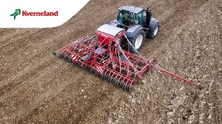 How to adjust the working depth on the Kverneland ts-drill.