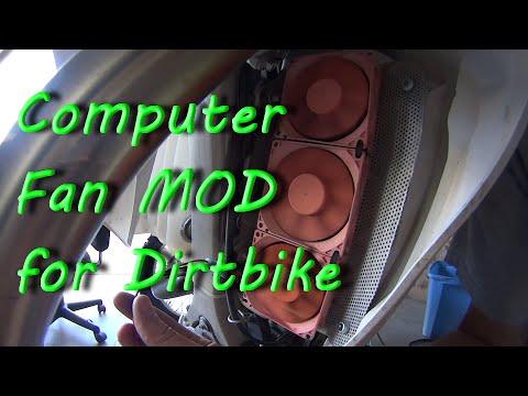 $6 Computer Cooling Fan MOD For Dirt Bike - as seen on ThumperTalk