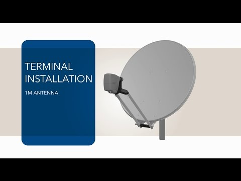 VSAT Terminal Tutorial - 1m Antenna And MDM2200 IP Satellite Modem Installation - Sat3Play