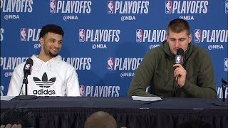 Nikola Jokic & Jamal Murray Postgame Interview - Game 4 | Nuggets vs Blazers | 2019 NBA Playoffs
