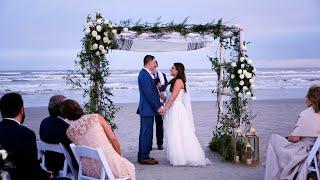 Michelle & Elias' Wedding on the Galveston, TX Beach