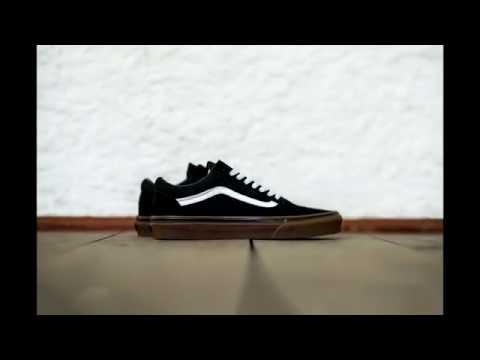 60390dfb Кеды Vans Old Skool Black/Medium Gum - YouTube