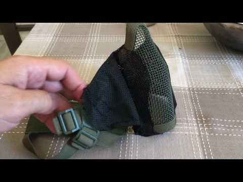 Airsoft Mesh Mask modification (Mesh fabric cheeks)