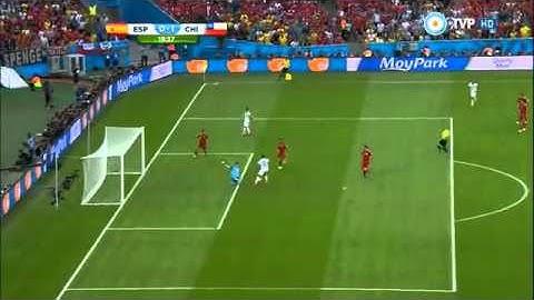 eduardo vargas gol espaa vs chile mundial brasil 2014