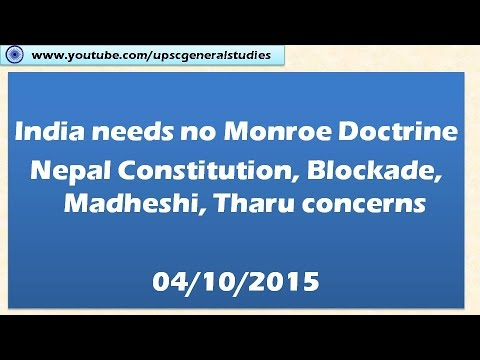 Monroe doctrine: India and South Asia:  Hindu news analysis: Current events 04/10/2015