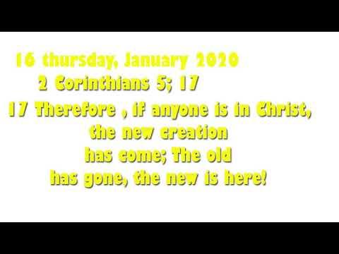 2 Corinthians 16 THURSDAY 2020
