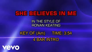 Ronan Keating - She Believes In Me (Karaoke)
