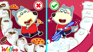 Wolfoo, Your Teeth Are So Dirty! Brush Your Teeth Now - Learn Good Habits for Kids | Wolfoo Channel