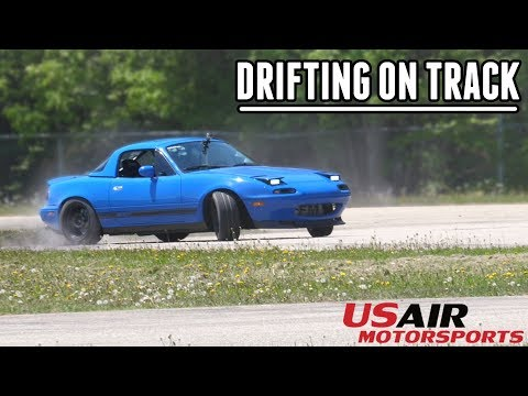 First Time Drifting the Turbo Miata on a Race Track!