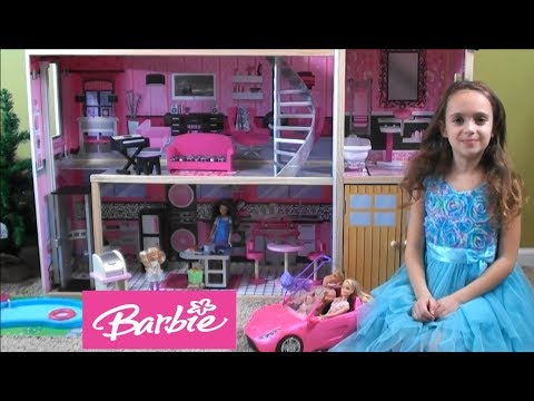 Barbie: Barbie and Ken Have a Baby in Barbie's NEW Sparkle Mansion with Friends - 동영상