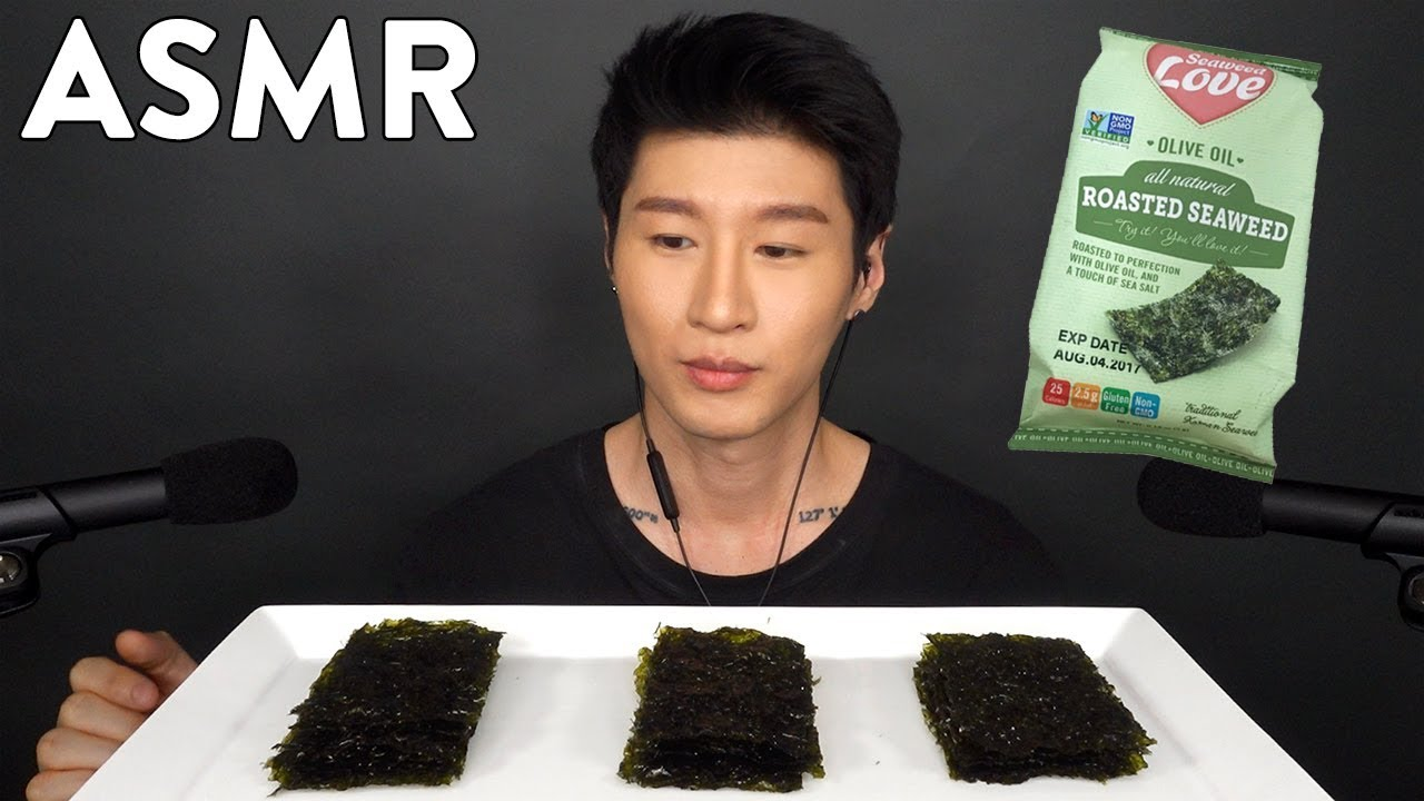 Asmr Seaweed Snacks No Talking Eating Sounds Zach Choi Asmr