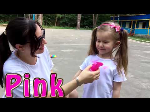 Learn Colors with Color T-SHIRT Educational video for Children & Giant Stacking Rings