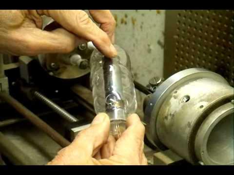 Making a type C triode vacuum tube.