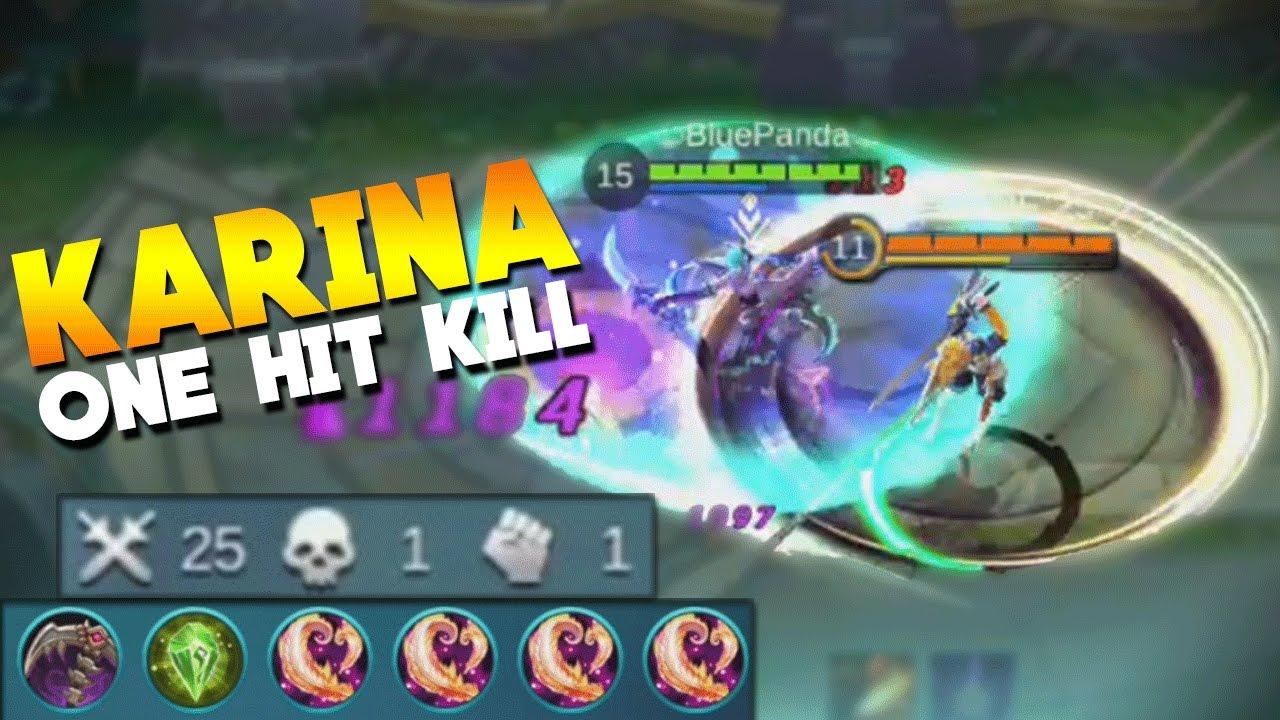 mobile legends karina max damage (one hit build)