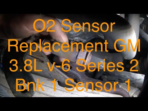 OXYGEN SENSOR REPLACEMENT GM 38l V6 SERIES 2  BANK 1