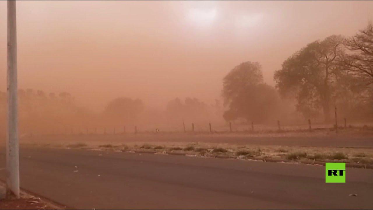 عاصفة رملية هائلة تضرب البرازيل وتصبغ السماء باللون البرتقالي  - نشر قبل 2 ساعة