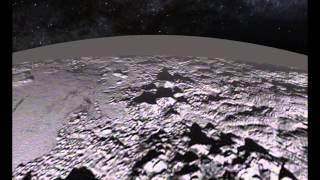 Vuelo sobre las Montañas de Hielo y Llanuras de Pluton