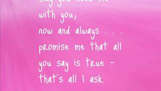 All I ask of you- Lyrics