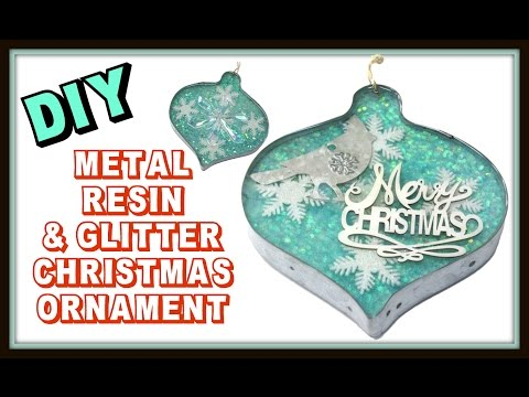 Glitter, Resin & Metal Christmas Ornament DIY ~ Craft Klatch Christmas Series