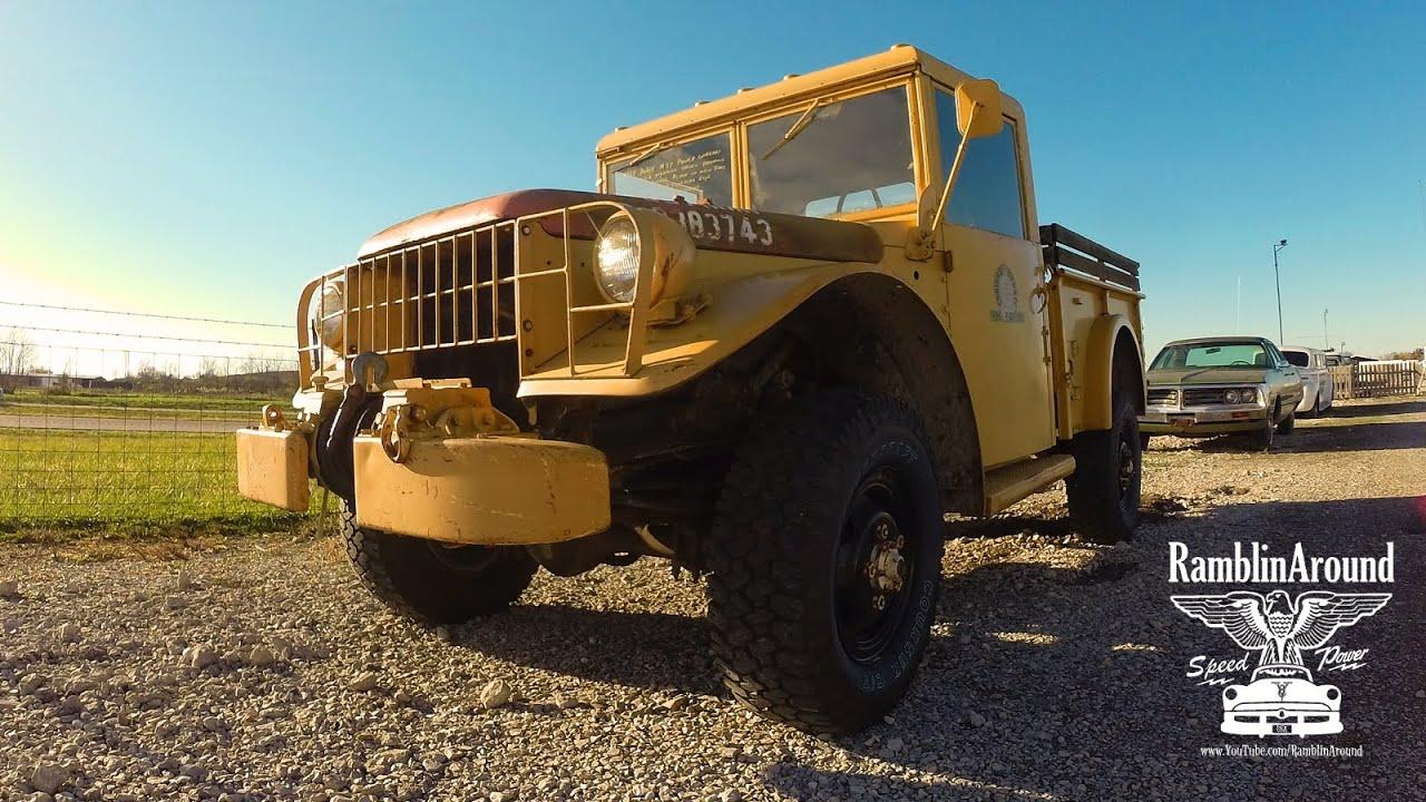 Military Vehicle 1964 Dodge M37 Power Wagon 4x4 Youtube 1954