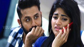 Nithin And Meghana Airport Funny Scene || Lie Movie Comedy Scenes || Volga Videos