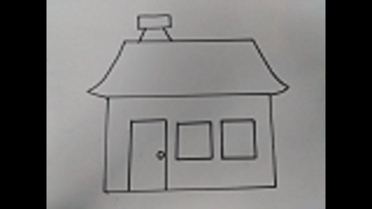 رسم كيفية رسم بيت بالرصاص للاطفال بسهولة Youtube