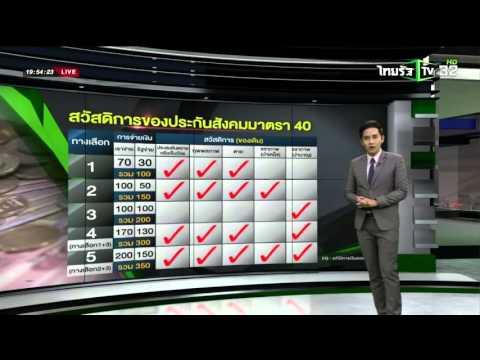 เทียบสิทธิประโยชน์ สปส.VS กอช. | 09-02-59 | ไทยรัฐนิวส์โชว์ | ThairathTV