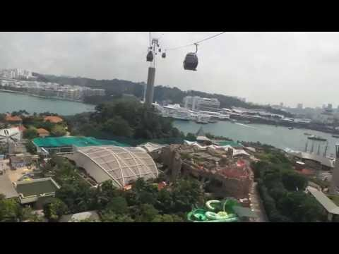sentosa resorts from cable car singapore