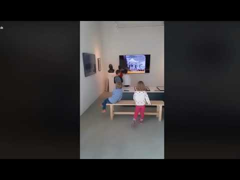 Kids enjoying our exhibition at The Jordan National Gallery of Fine Arts