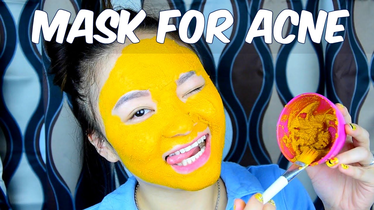 DIY Turmeric Mask For ACNE Skin | Mặt Nạ Trị Mụn Từ Bột Nghệ || BeeSweetiee