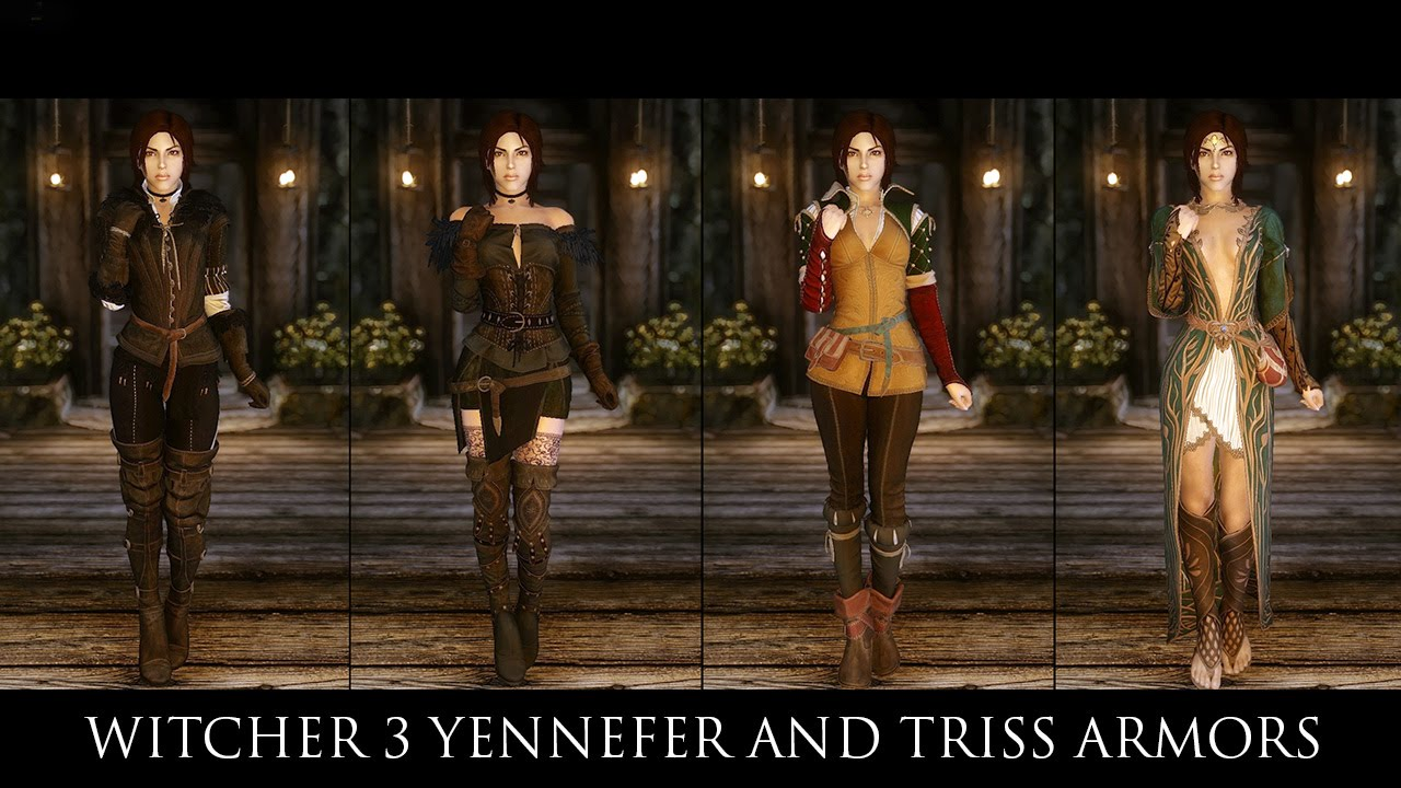 TES V - Skyrim Mods: Witcher 3 Yennefer and Triss Armors by zzjay by  hodilton