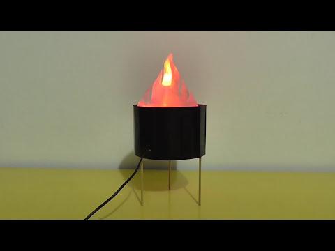 Lampara de imitaci n de fuego grande mesa doovi for Fuego falso para chimenea