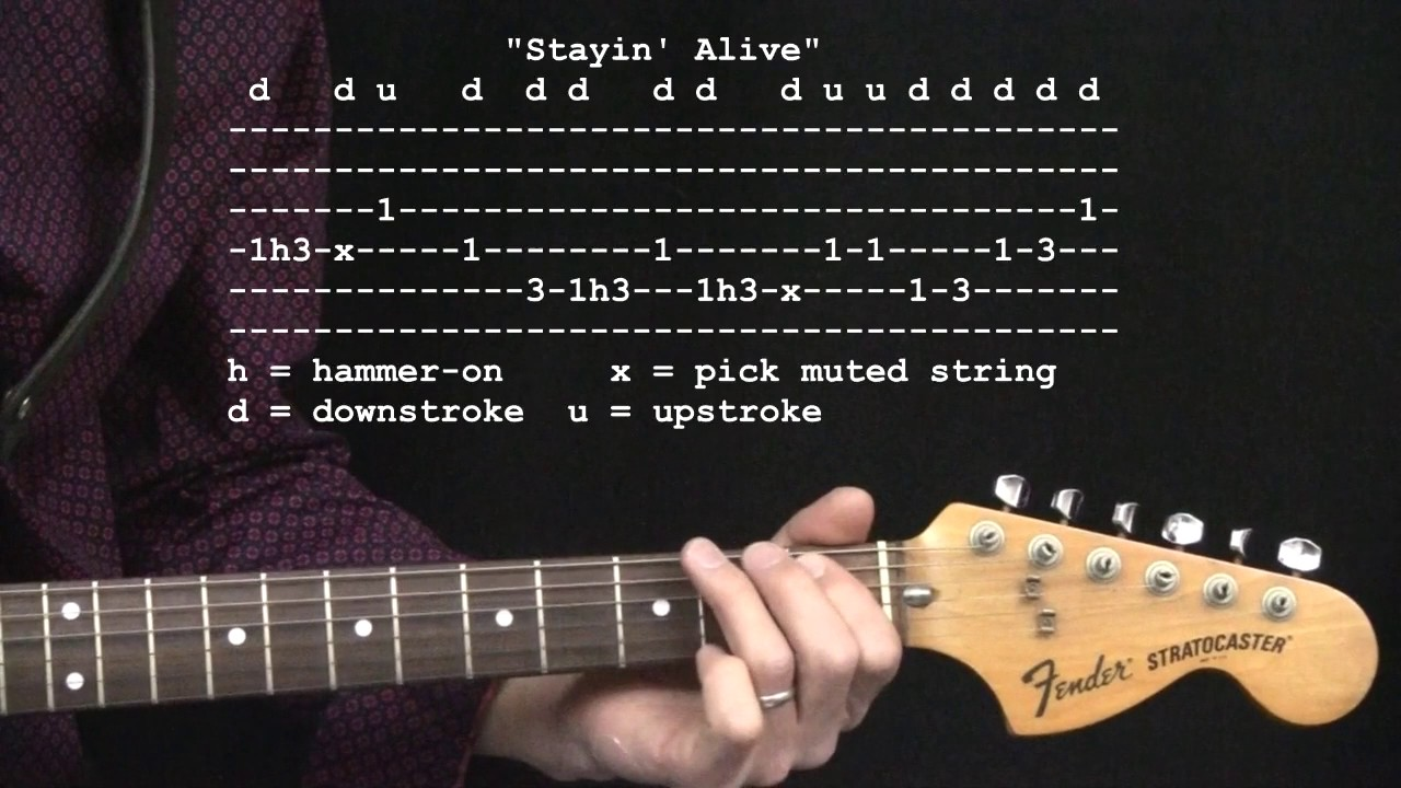 Stayin Alive By The Bee Gees 365 Riffs For Beginning Guitar