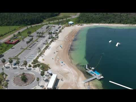 Sun West Mine Beach In Pasco County Florida 2018 Drone Footage
