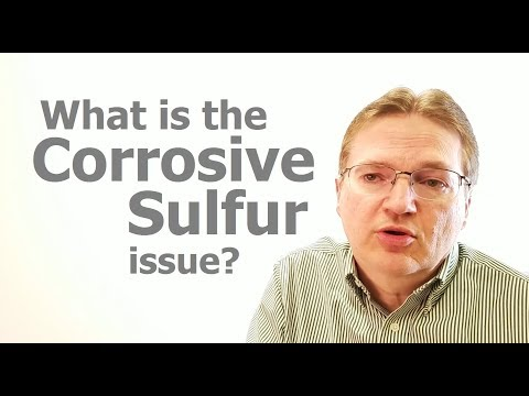 What is the corrosive sulfur issue?