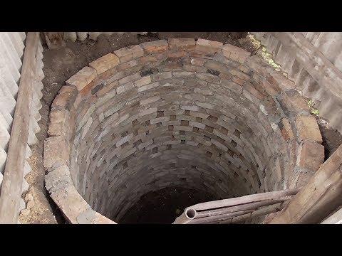 Колодец для канализации из кирпича своими руками