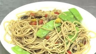 How To Make Vegetable Lo Mein From Spaghetti : Vegetable Dishes