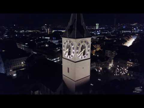 Zurich by night - DJI Mavic Pro (4K)