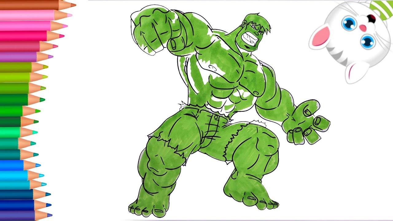 Supereroe Hulk Come Disegnare E Colorare Piccole Mani Libro Da