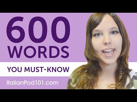 600 Words Every Italian Beginner Must Know