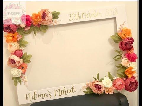 how to make a wedding frame En - YouTube