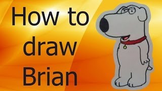 How to draw Brian Griffin (Family Guy)