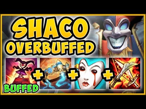 WTF! NEW BUFFED SHACO BOXES CAN 1v1 CHAMPS NOW?? SHACO SEASON 9 TOP GAMEPLAY! - League Of Legends