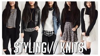 How I Style // Knits, Jumpers/Sweaters & Cardigans ♡ 5 Winter Monochrome Outfit Ideas