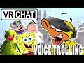 VRchat Voice Trolling! With SpongeBob, Peter Griffin, Chuck E. Cheese, And Kermit